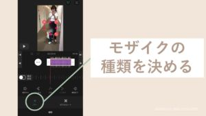 iPhoneのVLLOでモザイクの種類を決める画面