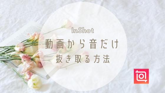 【InShot】ビデオからオーディオを抽出する方法